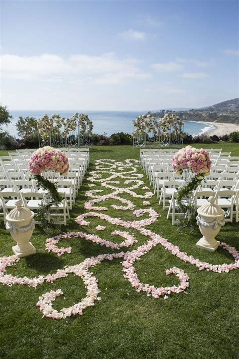 elegant ocean front ceremony and unique black yellow reception black wedding themes pink