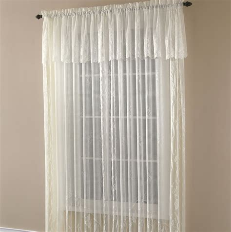 rod pocket curtains attached valance home design ideas