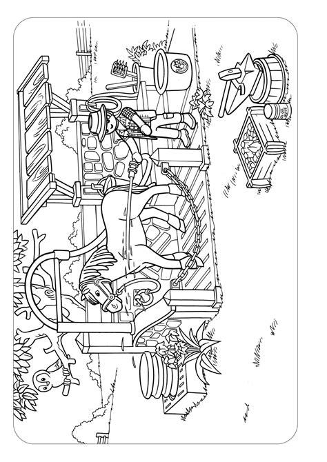 Paardenstal Kleurplaat by Kleurplaat Paarden Playmobil Archidev Kleurplaat