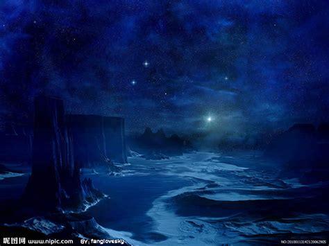 黑蓝夜空设计图风景漫画动漫动画设计图库昵图网nipiccom