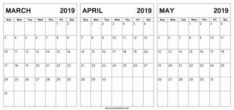 march april calendar printable march april