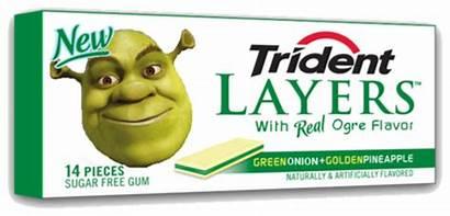 Gum Shrek Trident Memes Layers Meme Funny