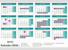 FERIEN Berlin 2018 Ferienkalender & Übersicht