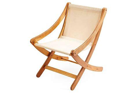 canvas wood chair