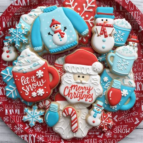 decorated christmas cookies ideas  pinterest