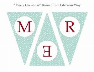 Printable Christmas Banners – Happy Holidays!