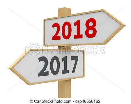 Road sign 2018 #2 Road sign with 2017 2018 change on