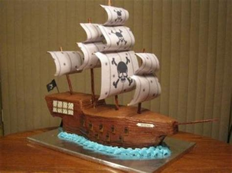 decorate  pirate ship cake  home  nutrition