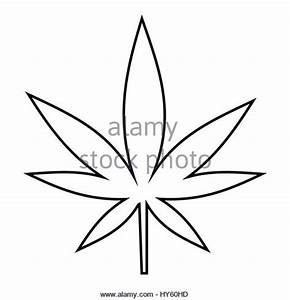 Cannabis Marijuana Leaf Icon Outline Stock Photos ...