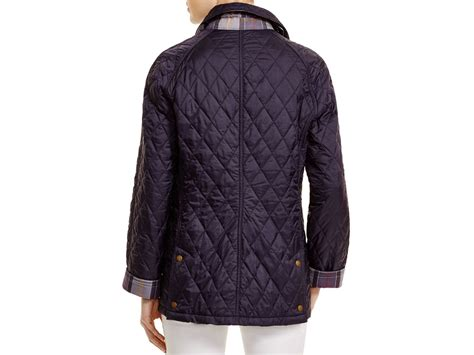 barbour beadnell quilted jacket barbour summer beadnell quilted jacket in blue lyst