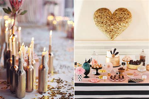decorations diy wedding decor 10 gorgeous gold diy ideas weddingsonline