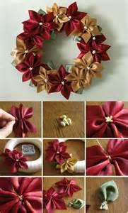 Christmas Poinsettia Wreath Craft