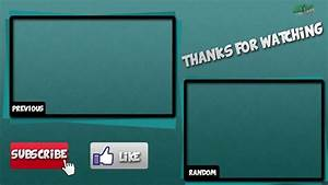 Wildcams outro template 2 youtube for Blank outro template