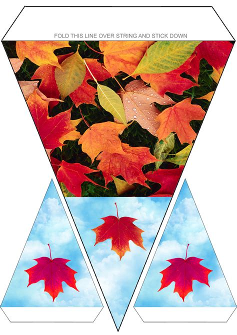autumn leaves bunting rooftop post printables