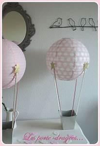 Idée Bapteme Fille : deco bapteme fille rose montgolfiere dore bapt me ~ Preciouscoupons.com Idées de Décoration