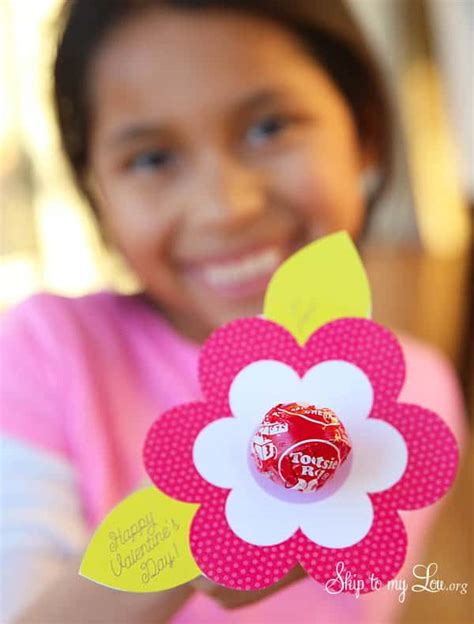 lollipop flower valentine printable skip   lou