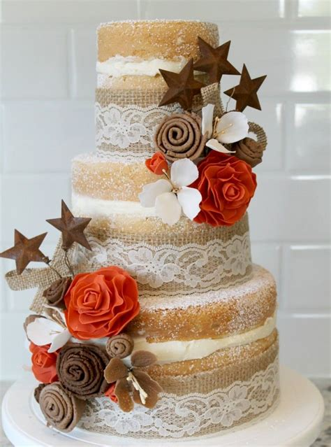 Burlap And Lace Wedding Cake How To Make Fondant