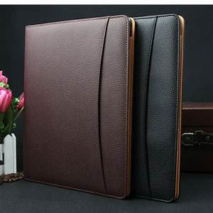 best wholesale brand a4 leather business conference file With best document folder
