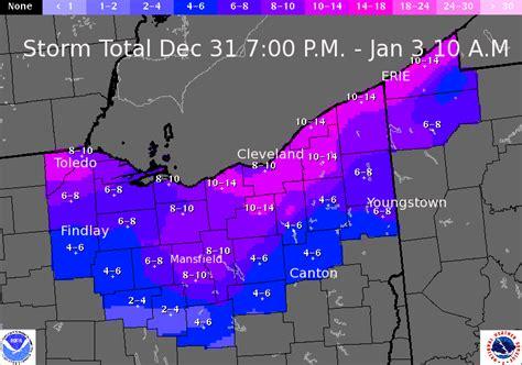 December 31, 2013-January 3, 2014 Snowfall Totals