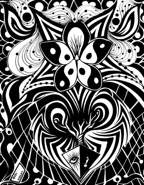 Violet by Kyuzo001 (With images)   Abstract coloring pages
