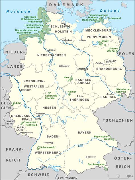 deutschland topographie gebirge deutschlandkarte