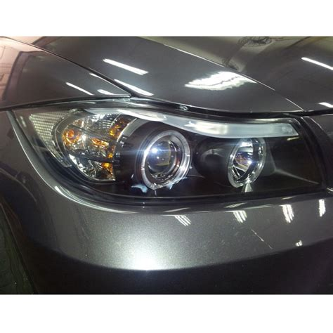 06 08 bmw 3 series e90 4dr eye halo led projector