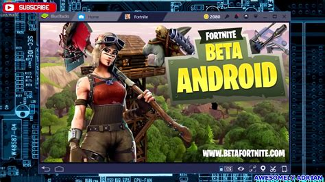 fortnite mobile android  blue stacks android emulator