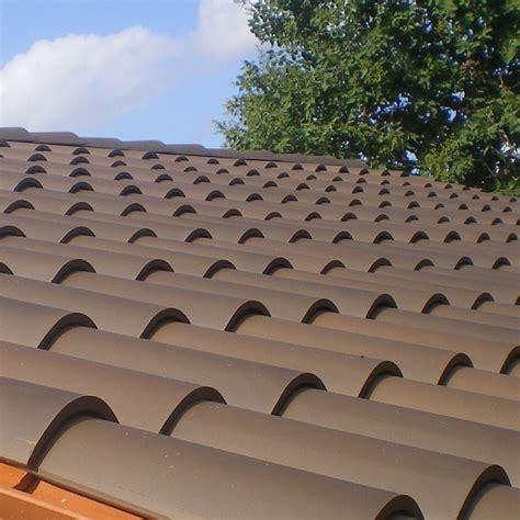 la escandella roof tiles brown curved