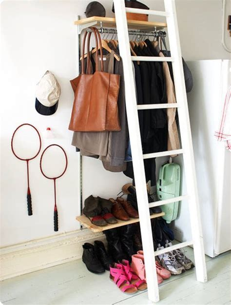 Ideas For Hanging Clothes Without A Closet by Diy Clothing Storage Solutions For Small Spaces
