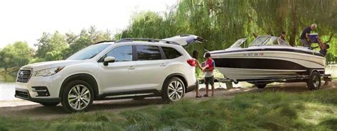 subaru offers   towing capacity suvs
