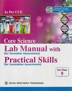 Core Science Lab Manual With Practical Skills For Class 9