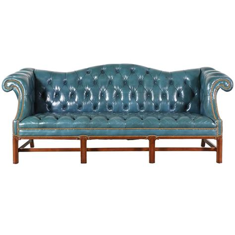 blue chesterfield leather sofa vintage leather teal blue chesterfield sofa at 1stdibs
