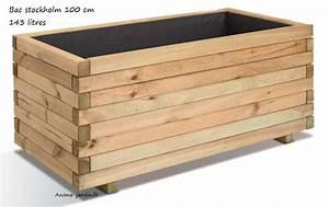 Bac En Bois Pour Plantes : jardini re 100 cm bois pour plantes stockholm autoclave ~ Dailycaller-alerts.com Idées de Décoration