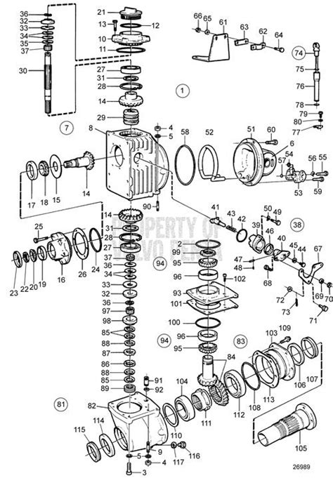volvo penta exploded view schematic reverse gear msv