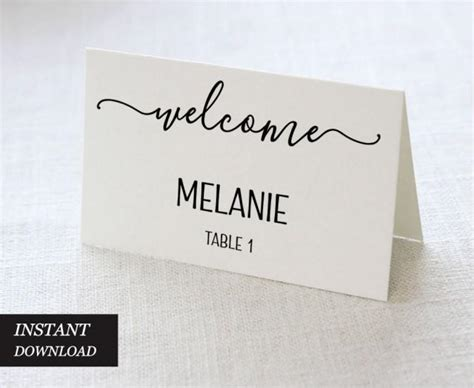wedding place cards wedding place card printable place