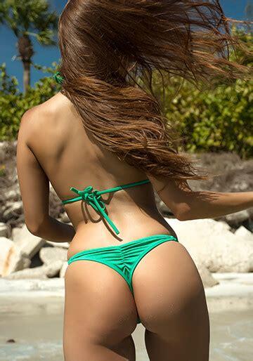 whaletail thong bikini bottom  shimmering kelly green