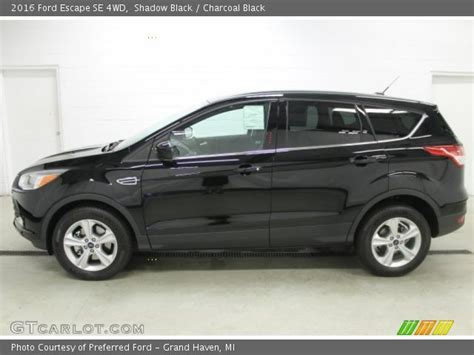 2016 Ford Escape Se by Shadow Black 2016 Ford Escape Se 4wd Charcoal Black