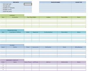 Travel itinerary template vacation itinerary template for Itenary template