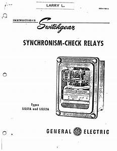 geh 1791a synchronism check relays types ijs51a and ijs52a With general electric relay manuals