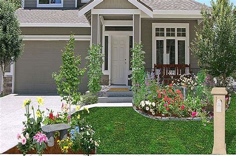 landscaping ideas front yard corner house garden post