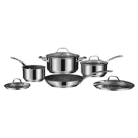 rock  stick cookware set stainless steel  piece london drugs