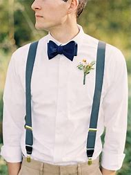 Blue Bow Tie and Suspenders