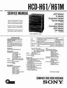 Hcd-h61 Manuals