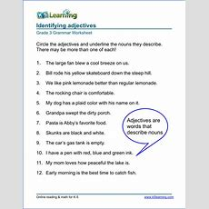 Grammar Worksheet  Grade 3 Sample  Projects To Try  English Grammar Worksheets, Grammar