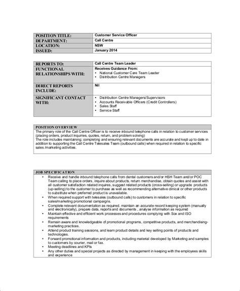 Call Centre Representative Description by Call Center Description Outbound