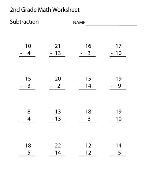 printable 2nd grade math worksheets learning printable