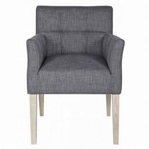 Fauteuil Design Confortable : chaise fauteuil design confortable tissu gris woood ~ Teatrodelosmanantiales.com Idées de Décoration