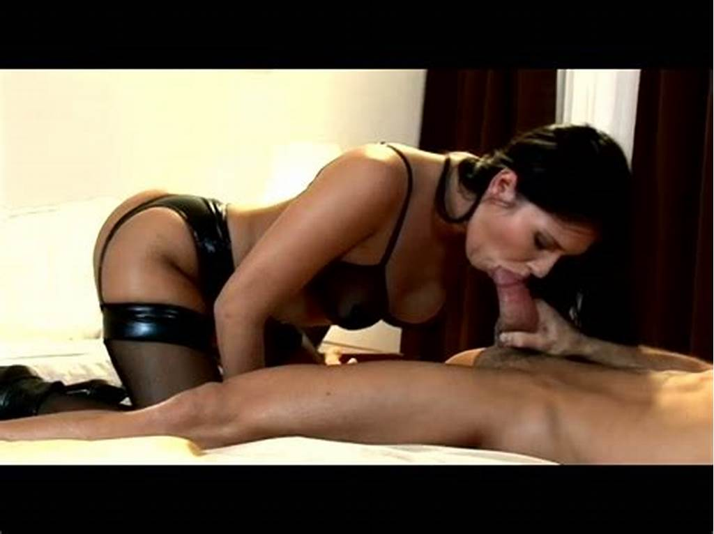 #Hot #Tempered #Babe #In #Latex #Lingerie #Gives #Blowjob