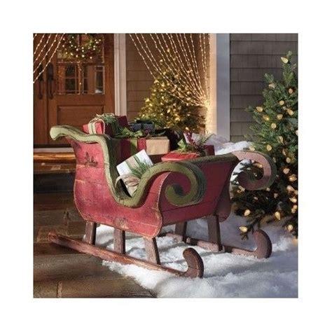 santa reindeer sleigh christmas outdoor indoor holiday
