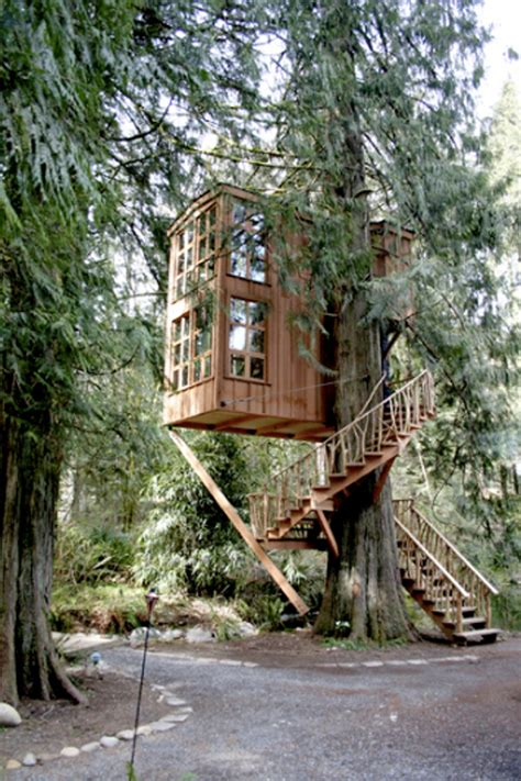 treehouse hotel washington green style treehouse point apartment therapy